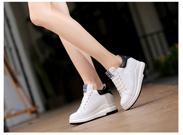 WADNASO Height Increased Casual Shoes Woman Wedge Platform Sneakers Lace Up Breathable Hide Heels Ladies Shoes Female XZ108 (14)