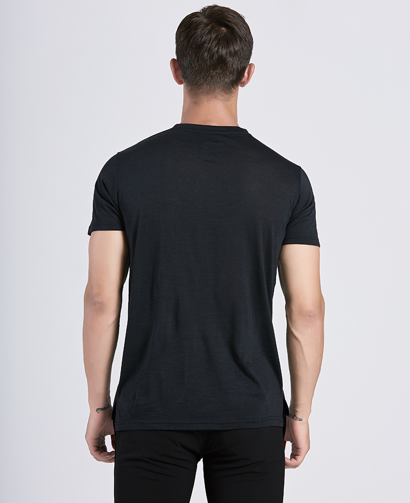 2019 Merino T-shirt 100% laine douce légère odeur évacuant l'humidité Résistance Sport T-shirt Homme Taille S-XL 150gsm MX200509