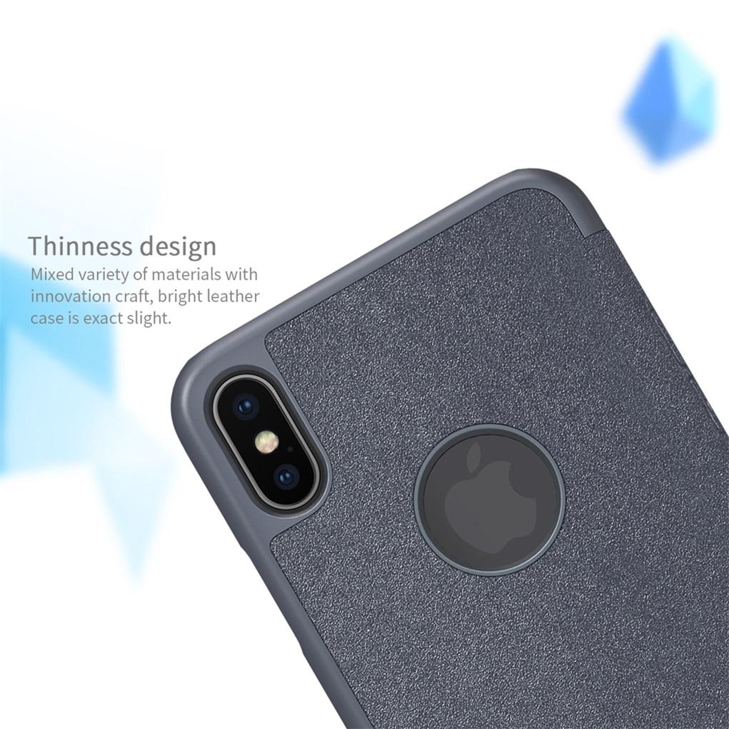 Funda para Apple iPhone XS Max / XR Para funda para iPhone XS / X NILLKIN Sparkle Super Thin Funda con tapa de cuero esmerilado