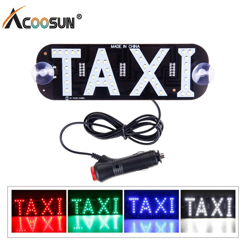 Alta qualit/à parabrezza taxi verde LED taxi Sign Light Lamp 12/V DC nuovo