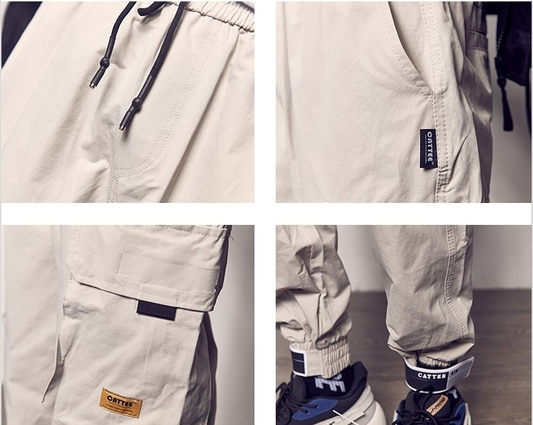 2019 poches pantalon cargo hommes couleur patchwork casual jogger mode pantalon tactique marée Harajuku StreetwearMX190904