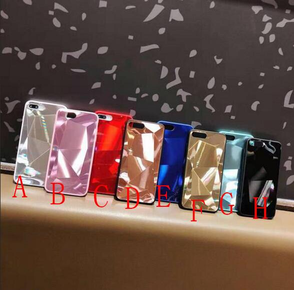 fashion luxury pure color mirror cellphone case cover for iphone 6/6s 7/8 x/xs max nice gift best sale factory price