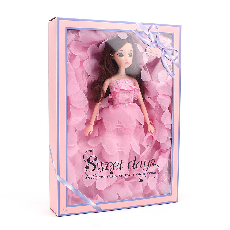Barbie Doll Will Wedding Dress Suit Gift Box Tailing Will Wedding Dress A Doll Clothes Girl House Toys