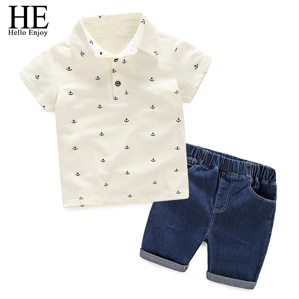 HE-Hello-Enjoy-Boy-Clothes-2018-Summer-Children-Clothing-Set-Print-Blouses-Shirt-Denim-Shorts-2 (1)