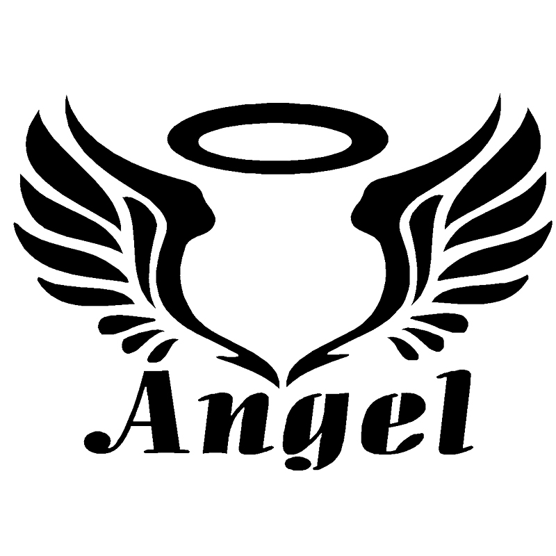 Personalized car stickers Angel Wings stickers car styling accessories motorcycle stickers 15cmx11.3cm csfssd Color : Black