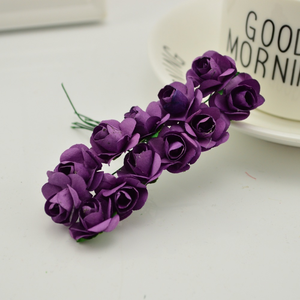 144pcs-1cm-cheap-Artificial-Paper-flowers-for-Wedding-car-fake-Roses-Used-For-decoration-Candy-box(17)