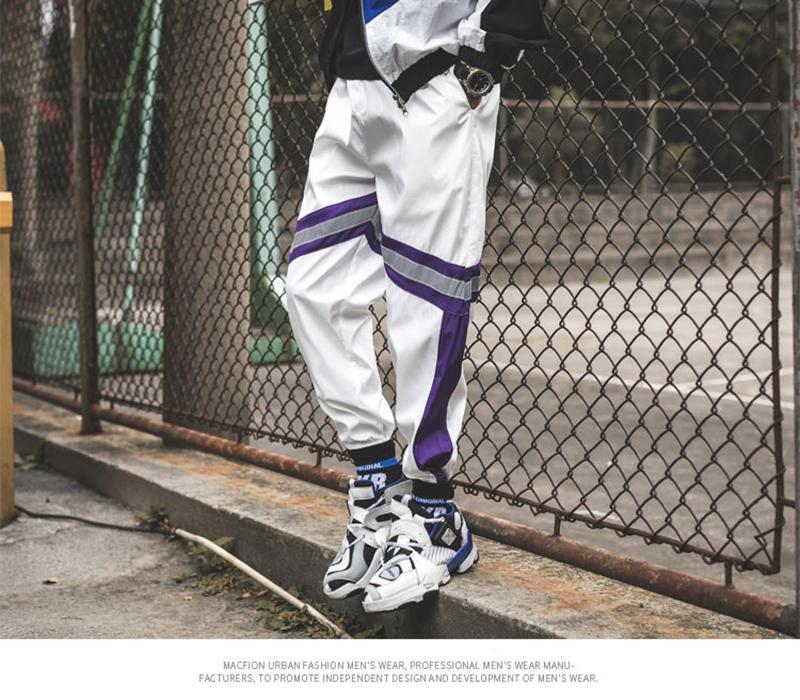 Loose Hip Hop Cargo Pants Men Camouflage Patchwork Harem Mens Trousers Streetwear (59)
