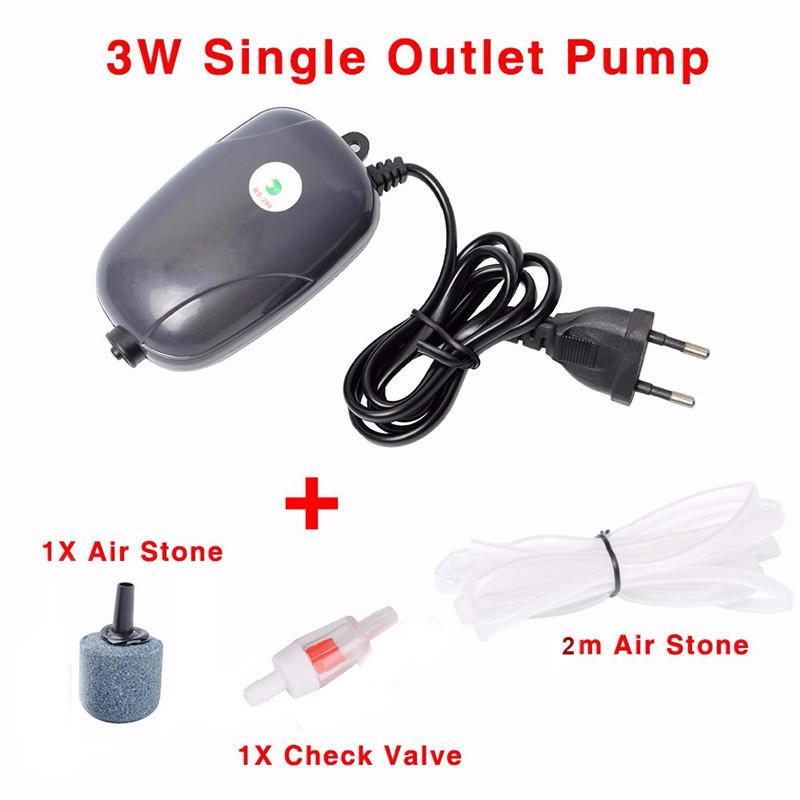 Aquarium Air Pump Mini USB Oxygen Pump Air Compressor Single Double Outlet Water Inflation Pump Aquatic Terrarium Fish Tank Accessories 2