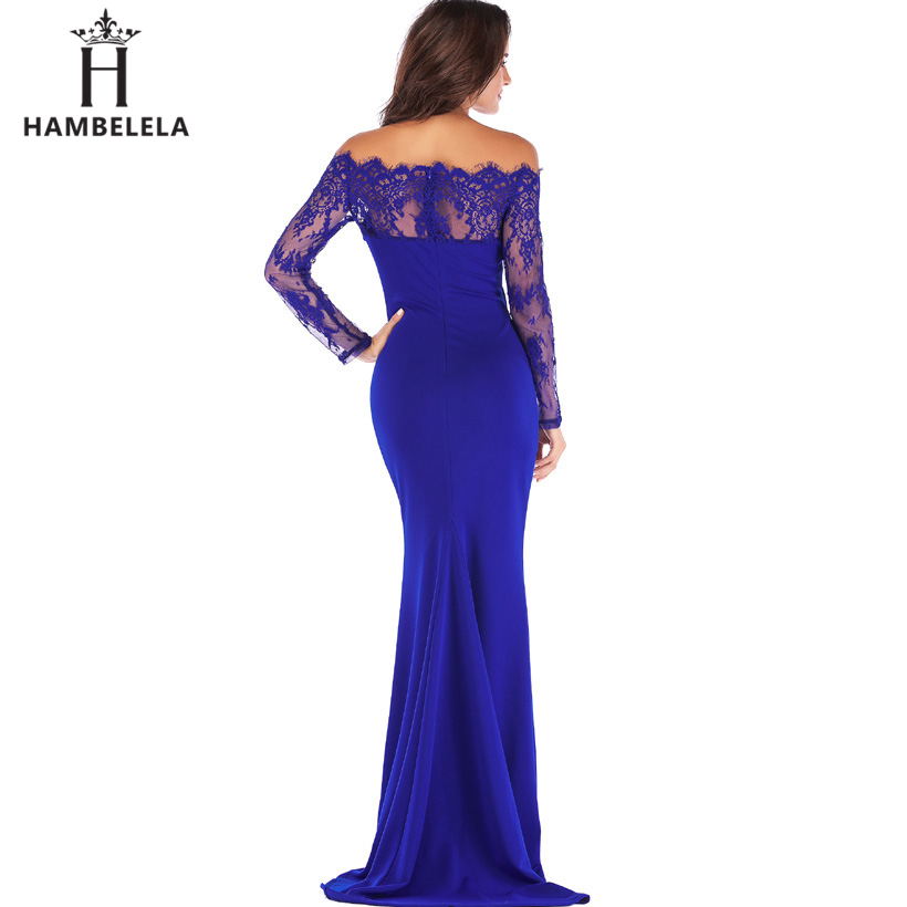 HAMBELELA Robe De Soiree Longue Long Sleeve Mermaid Evening Dresses Formal Evening Gowns China Vestido Longo Bodycon Lace Dress (2)