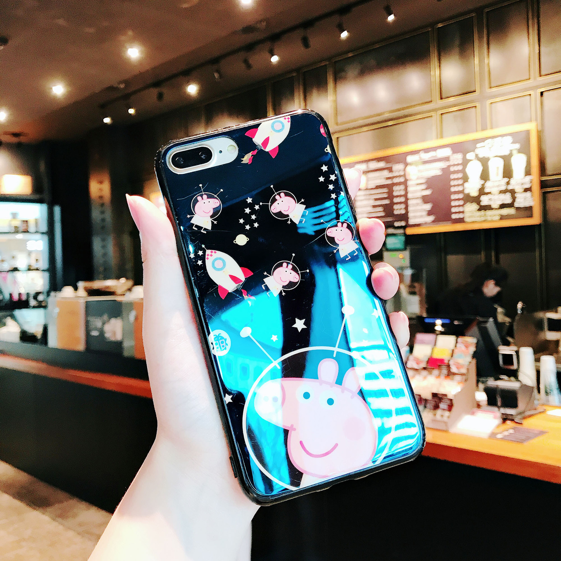 Fashion Design Phone Case Letter and Carton Print Protective Case for Iphone Premium Shockproof TPU Material Dirt-resistant Shock-Resistant