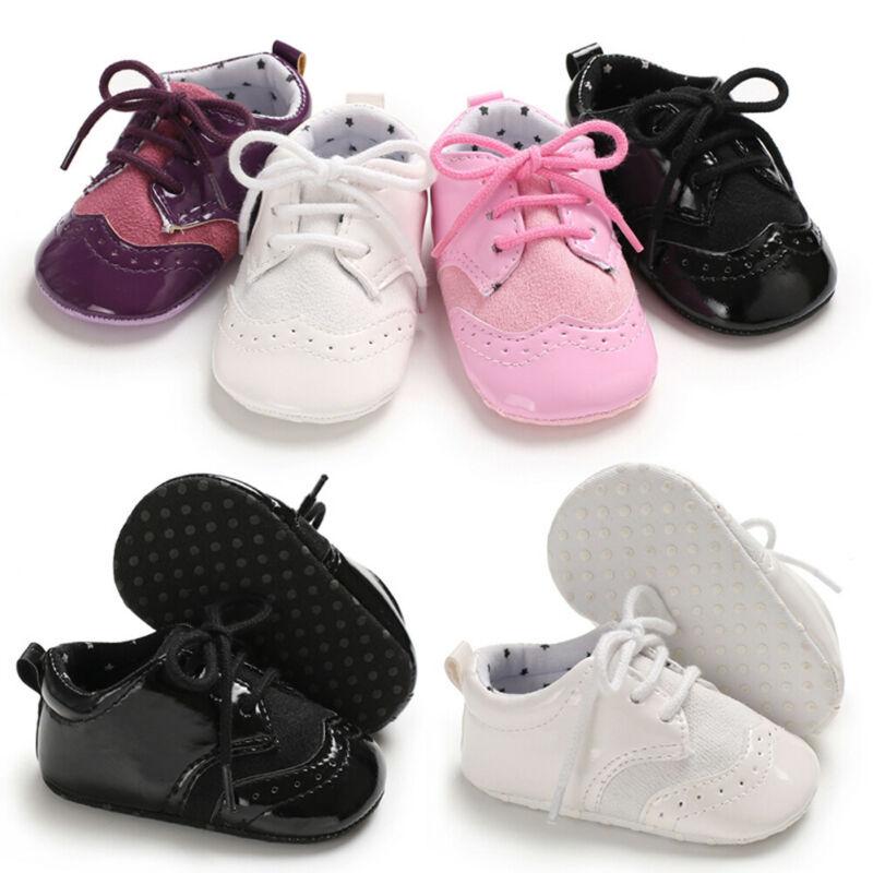 Bebé Niños Blanco Imitación Cuero Pram Zapatos Sandalias Bautizo Formal de Fiesta