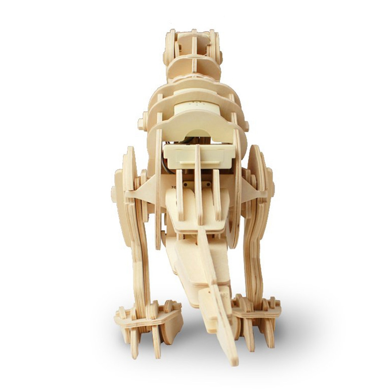 Оптовая Ходьба T-Rex Sound Control 3D Деревянная Ассамблея Игрушка в Динозавров Подарок для Детей Подростков Взрослых D210