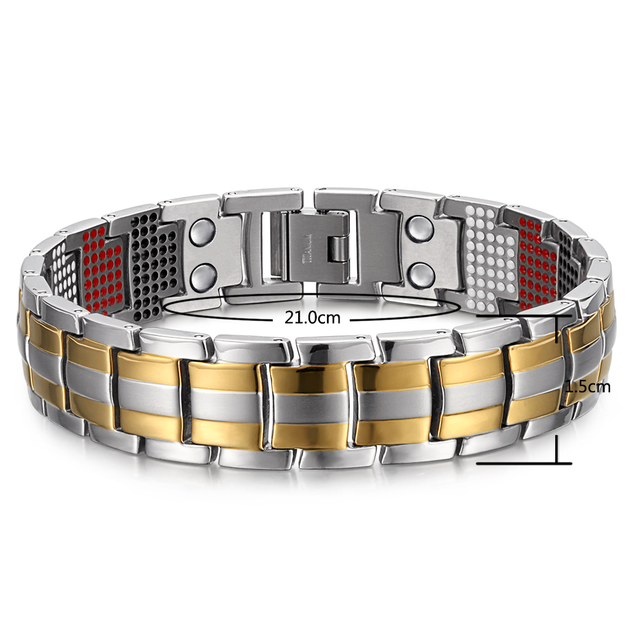 silver gold Titanium Bracelets (6)