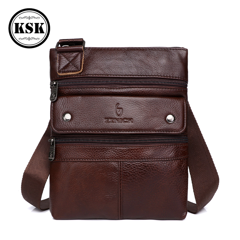 Men/'s Vintage Bag Genuine Leather Small Capacity Sling Crossbody Fashionable