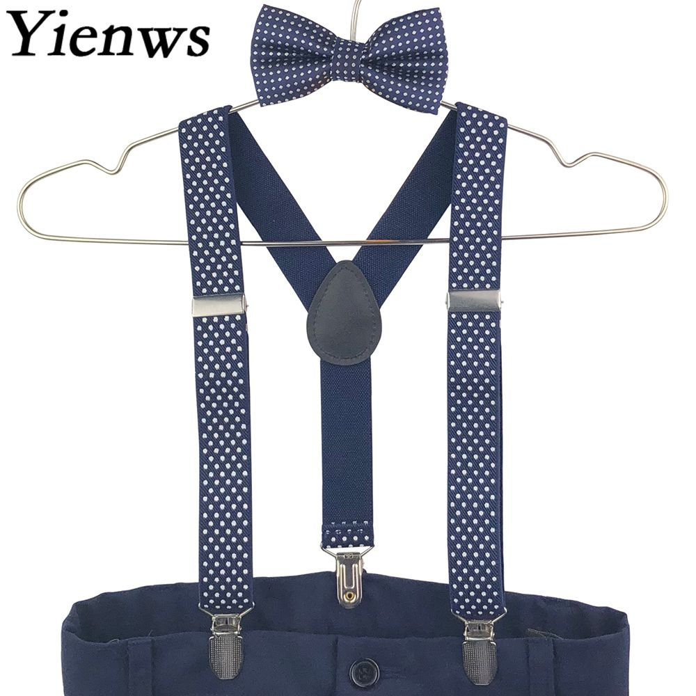 6M-4T Baby Kids Boys 2PCS Braces Suspenders Bowtie Birthday Cake Smash Outfits