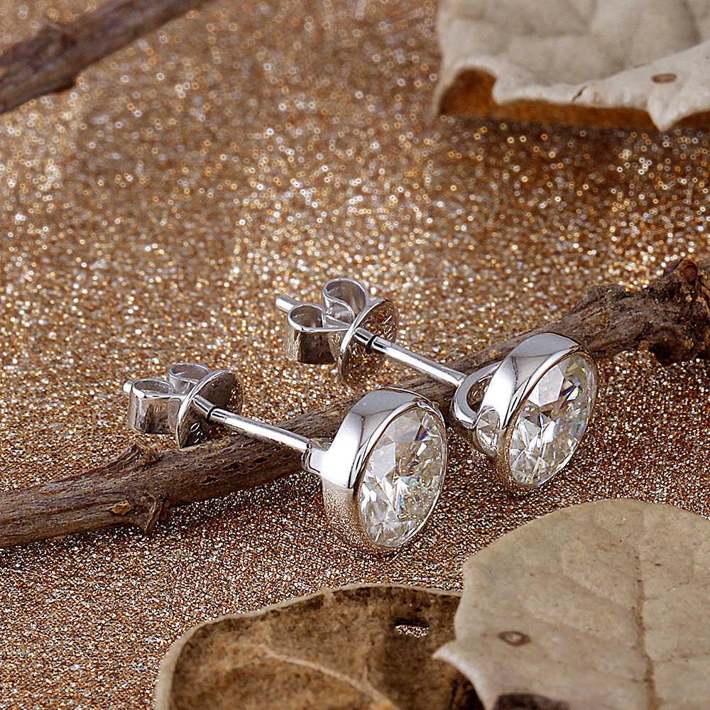 bezel moissanite earrings (3)