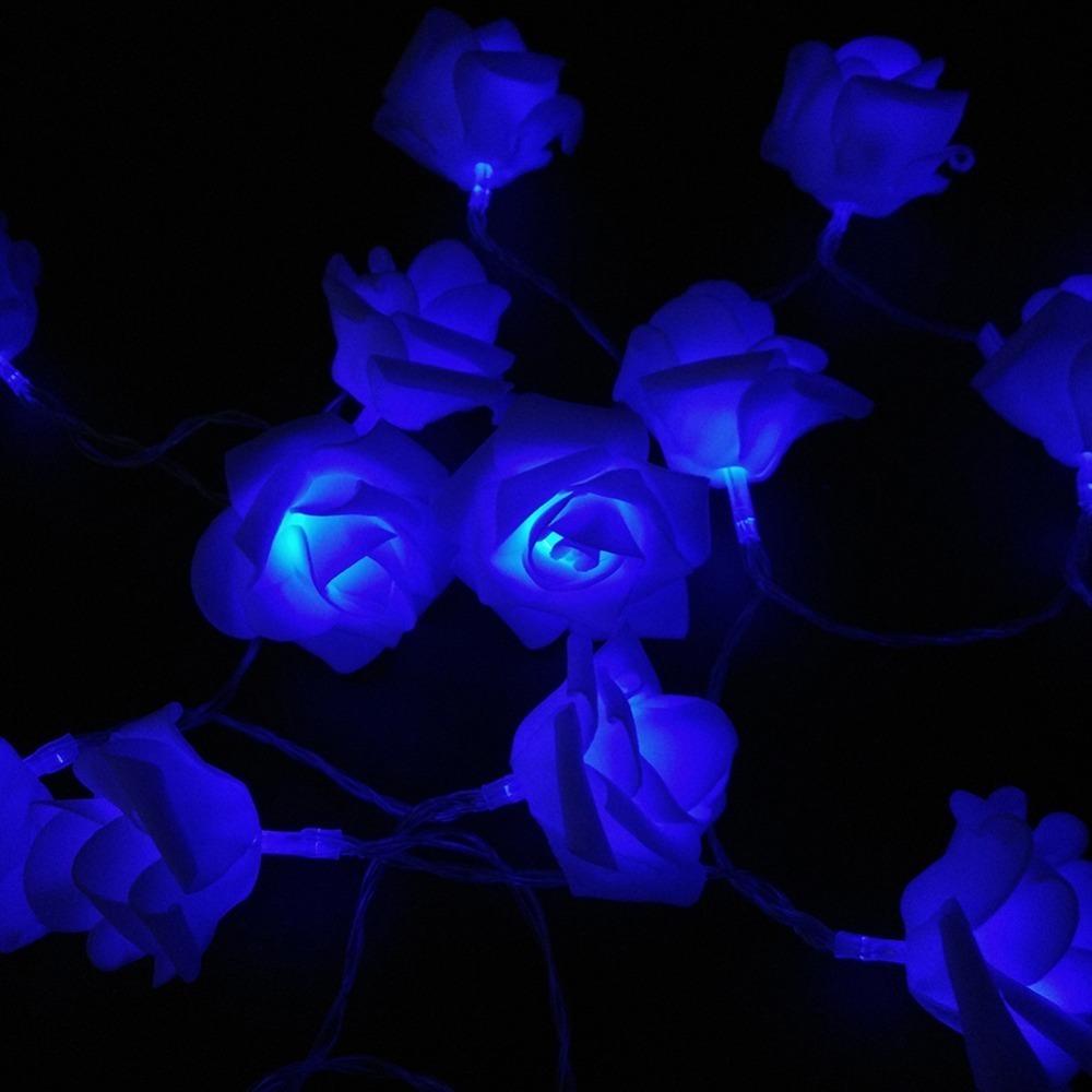 20 Rose Battery LED String Light 2M Xmas Twinkle Flower Rose LED Christmas Lights holiday decoration light for home (1)