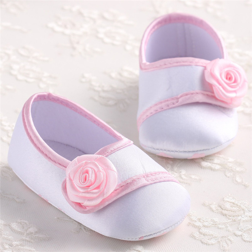 Baby Girls Shoes Fashion Newborn Infant Baby Girls Solid Flower Shoes Soft Sole Anti-slip Shoes Baby First Walker Shoes M8Y14 (14)