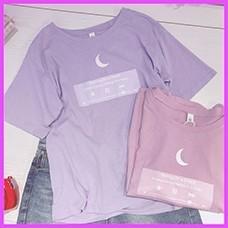2018-Japanese-Tshirt-Moon-Women-Best-Friends-T-shirt-Pink-Purple-Cute-Top-for-Teenager-Colleage