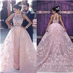 Pink A Line Wedding Dresses