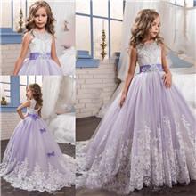 Lilac Flower Girls Dresses
