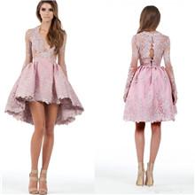 Lace V Neck Cocktail Dresses