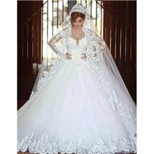 Arabic A Line Wedding Dresses
