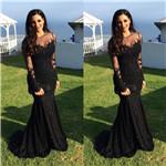 Black Mermaid Evening Dresses