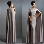 Long Evening Dresses w/Capes