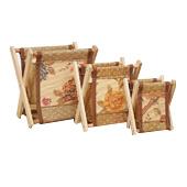 Деревянный и бамбуковый склад для хранения материалов Складной японский стиль