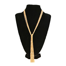 18KT GP Tassel Necklaces