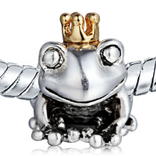 925 Silver Frog Charms