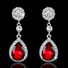 Crystal Tear arop Earrings