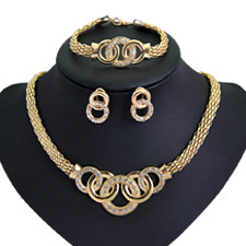 18KT Gola Platea Jewelry Sets