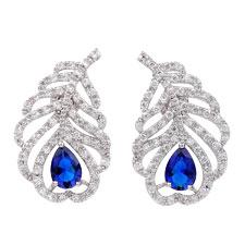 Sapphire & CZ Stua Earrings