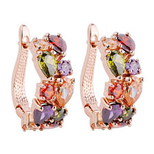 24KT Colorful CZ Earrings