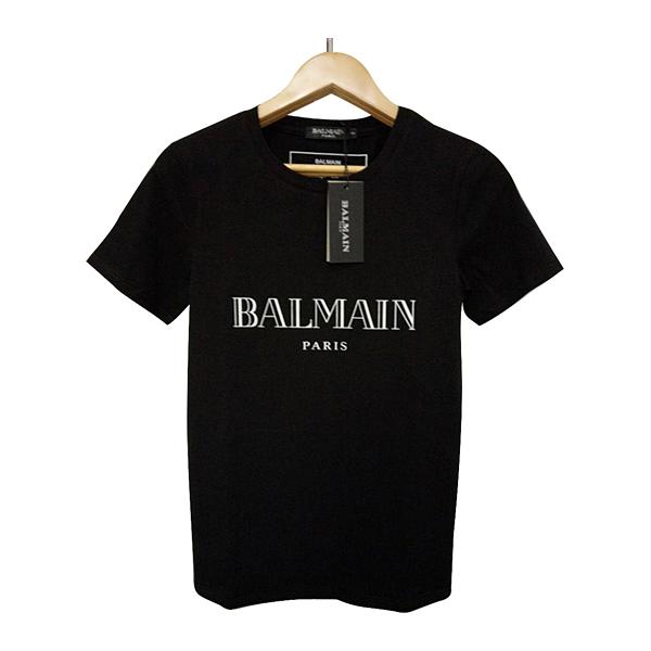 Balmain Mens Designer T-shirts Black White