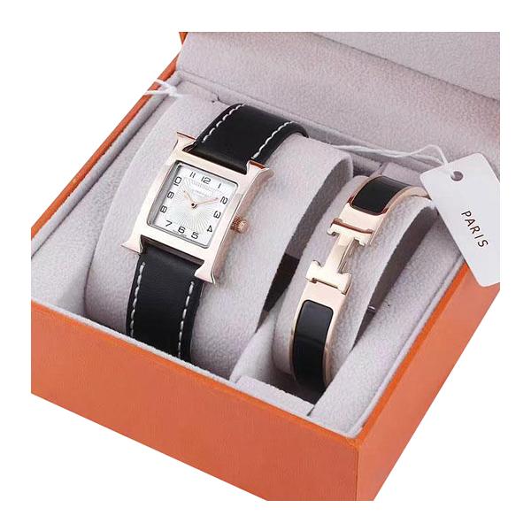 Fashion Top Brand 2 Sets Women Luxury Watch Bracelet Rose gold Dresses Wristwatches for lady girl Water Resistant Montre de luxu