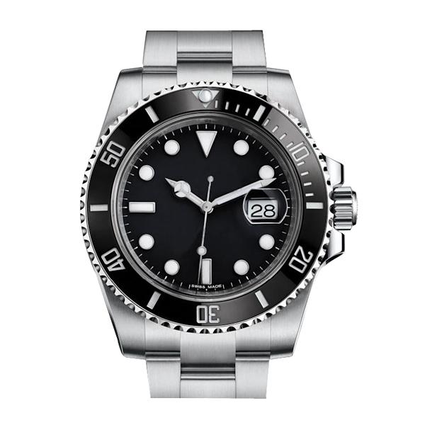 Luxury Mens Watches Top Quality Ceramic Bezel Asia 2813 Mechanical 40mm Men Luminous Business Automatic Mechanical Sport Watches Waterproof