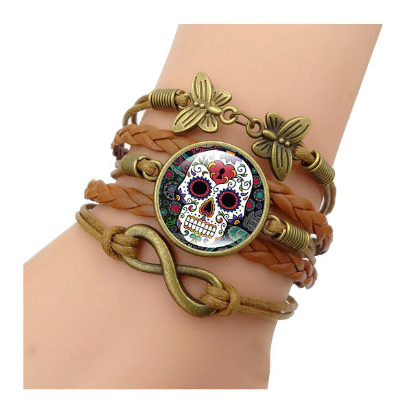 New Cool Skull Bracelet Hot Jewelry Set Fashion