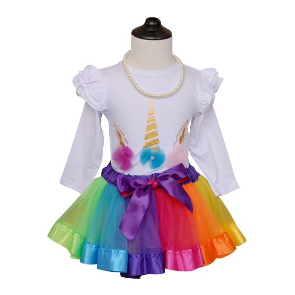Unicorn Romper and Tutu skirt Set for Birthday Girls Unicorn Party Favor Boutique Baby Girl Clothes for Sale Unicornio Onesie Party Supplies