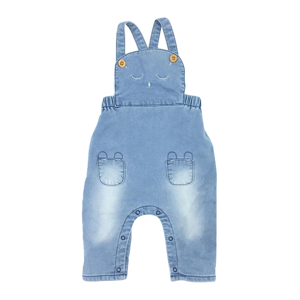 Baby Girls Clothes Jeans Spring Autumn Overalls Knitting Denim Animal Embroider High Quality Cute Infant Clothing