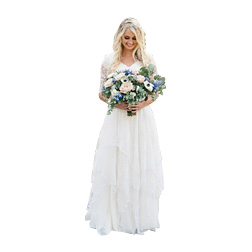 2018 Western Country Bohemian Forest Wedding Dresses