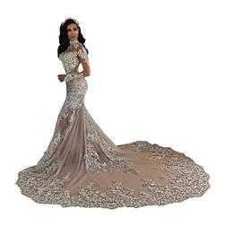 Retro Long Sleeves Mermaid Wedding Dresses