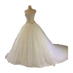 Elegant Real Image A Line Wedding Dresses