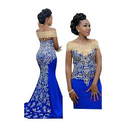Elegant Long Evening Dress 2018 Mermaid Off Shoulder