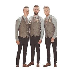 2018 Modest Tweed Vest Wool Groom Vests British Style