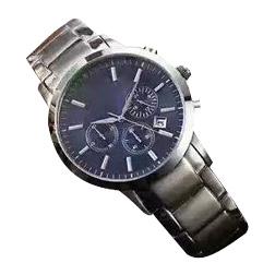 Men Stainless Steel Chronograph Military Quartz Watch