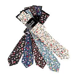 Free Shipping TIESET 100% Cotton Print Flora Necktie
