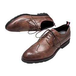 Mens Casual Shoes Wingtip Black Leather Formal